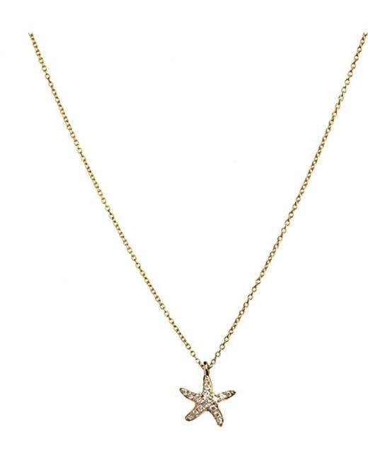 Annoushka | Metallic 18ct Yellow Gold And Diamond Love Diamonds Starfish Pendant Necklace | Lyst