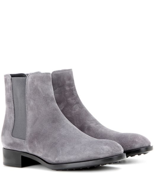 Amazing W11 ATELIER ITALIAN COLLECTION Cage Grey Suede Leather Chelsea Boots