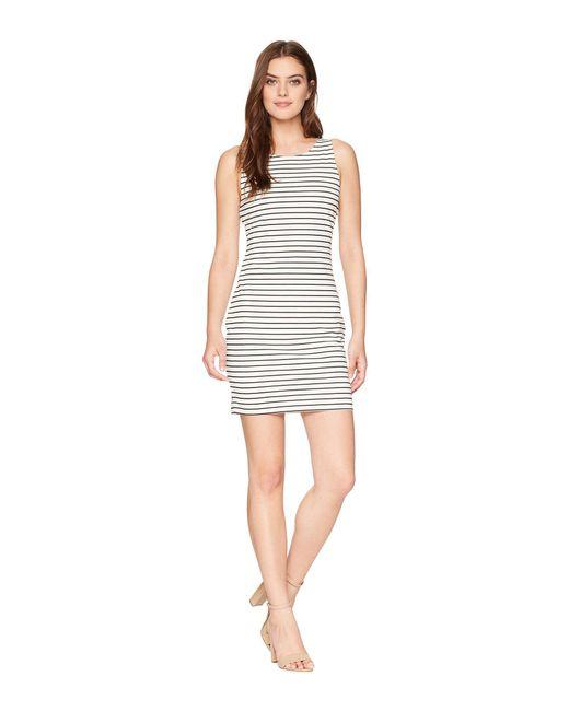 Jack BB Dakota - White Karen Striped Ponte Bodycon Dress With Back Elastic - Lyst