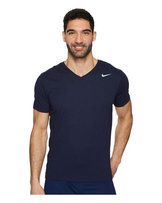 a43c5417b Nike Dry Training V-neck T-shirt in Blue for Men - Save 5% - Lyst