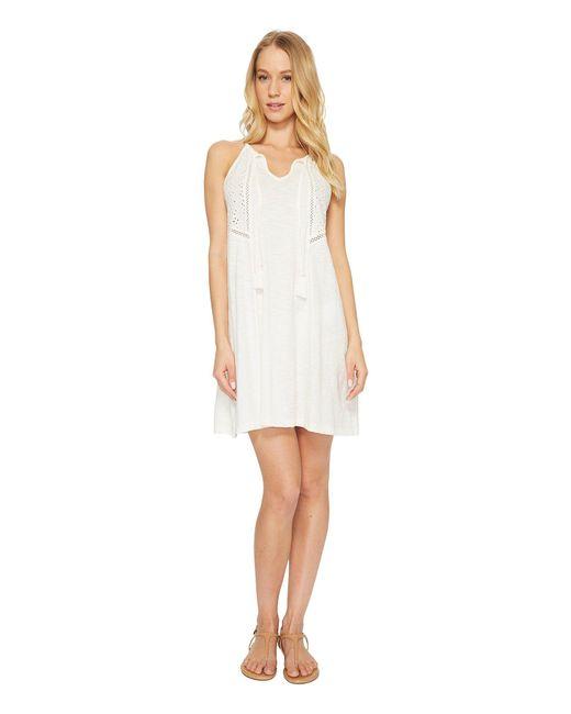 Roxy - White Enchanted Island Dress - Lyst