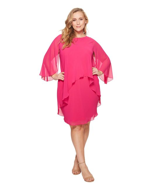 Lauren by Ralph Lauren - Pink Plus Size Apollonia Georgette Dress - Lyst