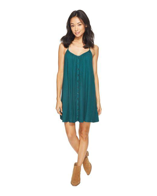 Volcom - Green Mix A Lot Cami Dress - Lyst