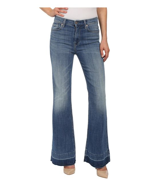 7 For All Mankind | Blue Tailorless Ginger In Bright Light Broken Twill 2 | Lyst