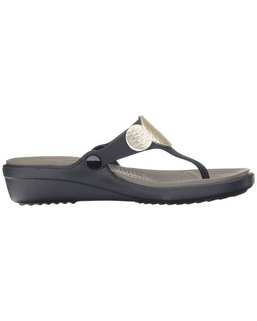 c89446b3ca76 ... Crocs™ - Blue Sanrah Embellished Wedge Flip - Lyst ...