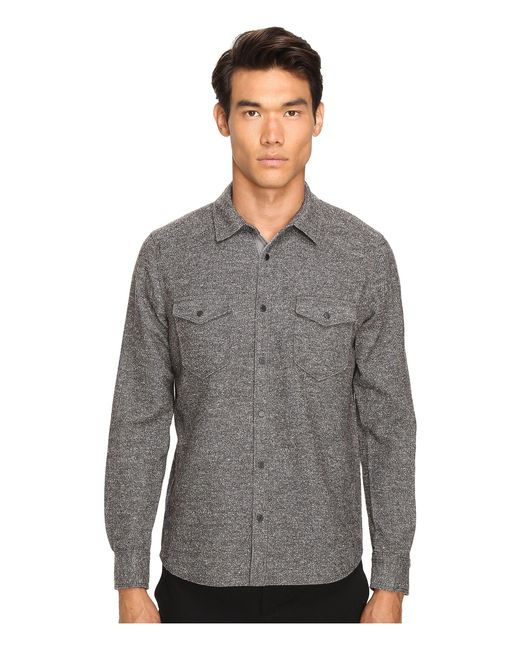 ATM - Gray Donegal Twill Shirt for Men - Lyst