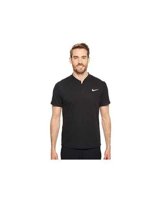 bb43eb1a Nike - Court Dry Advantage Solid Tennis Polo (black/black/black) Short ...