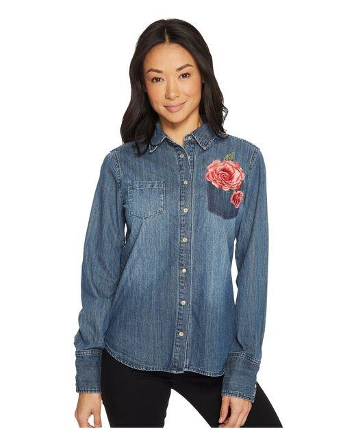 Stetson - Blue Boyfriend Fit Western Shirt 60z - Lyst