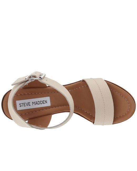 fa6558a66c1 Lyst - Steve Madden Belma Wedge Sandal in Brown - Save 56%