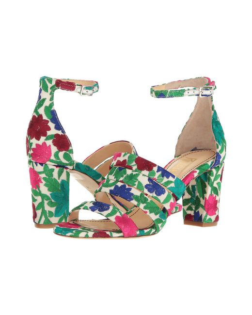 Jerome C. Rousseau - Multicolor Abelline Floral Embroidered Block Heel Sandals - Lyst