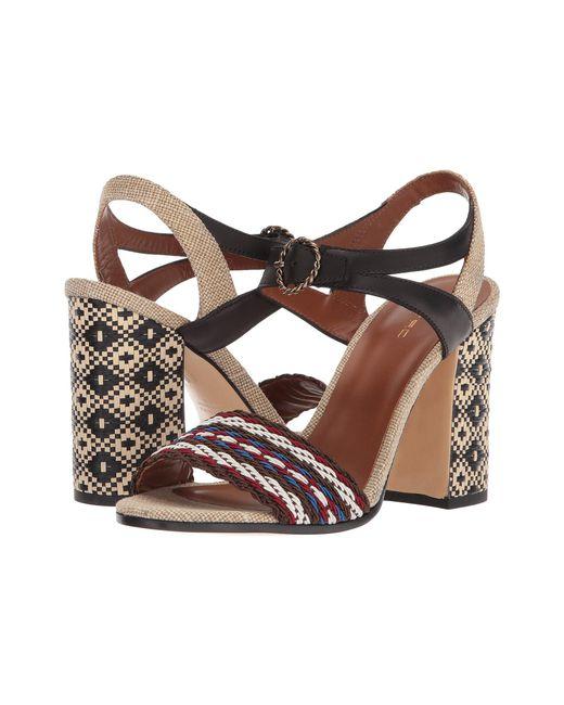 43182675c870d Lyst - Etro Block Heel Sandal in Brown - Save 65.0%