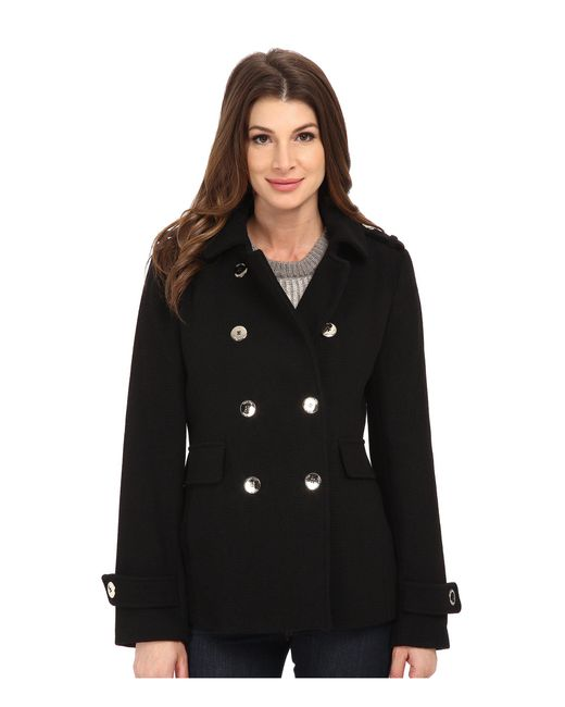 CALVIN KLEIN 205W39NYC - Black Double Breasted Wool Coat - Lyst