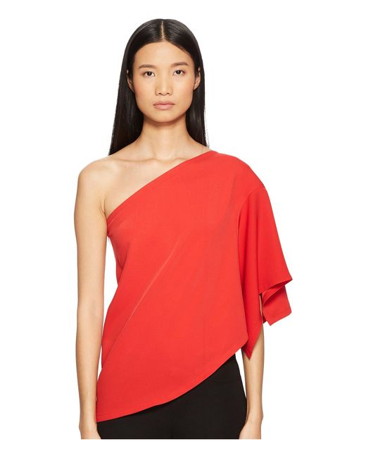 Yigal Azrouël - Red One Shoulder Top - Lyst