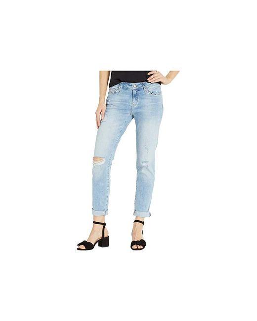 Mavi Jeans - Blue Ada Boyfriend In Light Ripped Eyelet (light Ripped Eyelet) Jeans - Lyst
