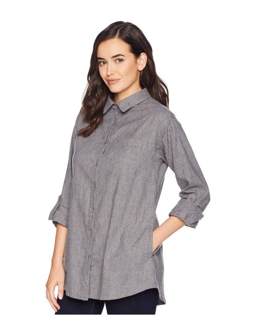 94aab2ae Lyst - Prana Aster Tunic in Gray - Save 35%