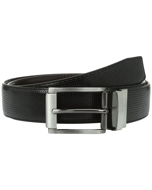 Steve Madden - Black 35mm Perforated Dress Belt for Men - Lyst