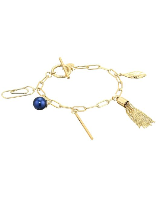 French Connection - Metallic Charm Bracelet - Lyst
