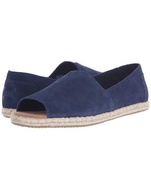 TOMS - Blue Alpargata Open Toe - Lyst