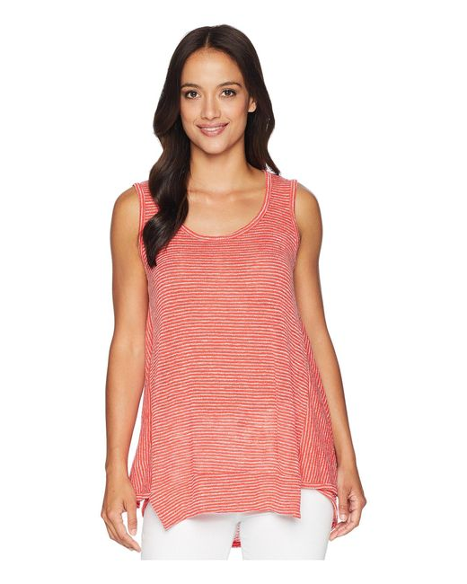 Nally & Millie - Red Panel Seam Piped Stripe Tank - Lyst
