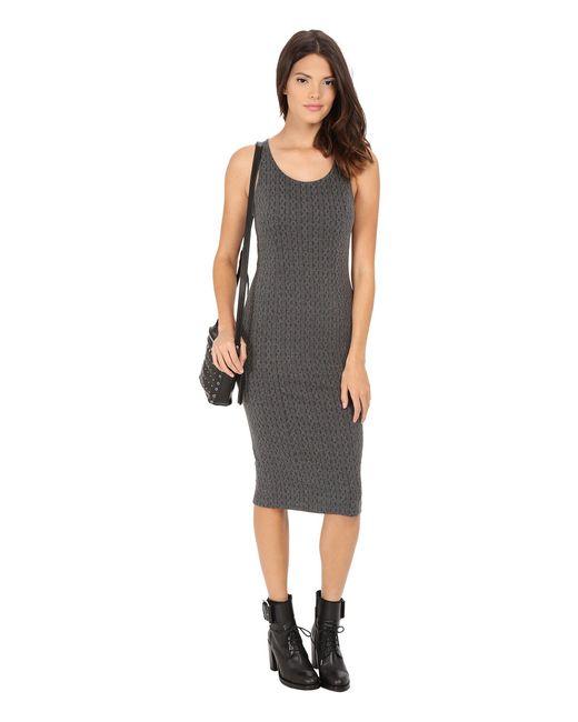 Jack BB Dakota - Gray Castel Cable Pattern Knit Jacquard Midi Dress - Lyst