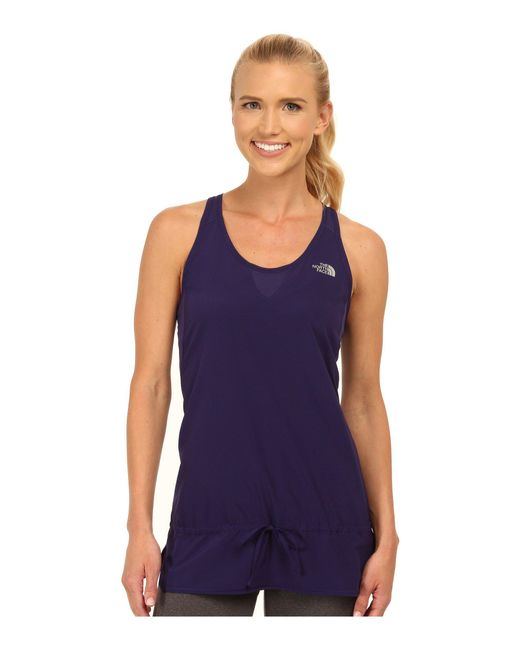 The North Face - Purple Gtd Woven Tank Top - Lyst