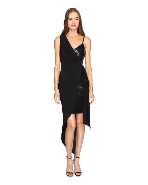 Boutique Moschino - Black Cocktail Dress With Sash - Lyst