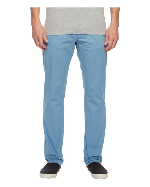 CALVIN KLEIN 205W39NYC - Blue Slim Fit Four-pocket Stretch Sateen Pants for Men - Lyst