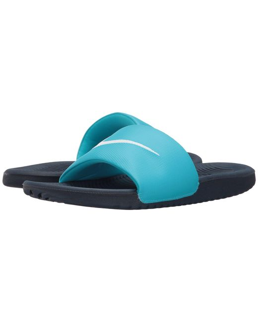 84112f432 Nike - Blue Kawa Slide for Men - Lyst ...