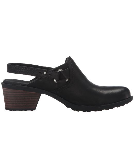 d7b209c4652933 Lyst - Teva Foxy Clog Leather in Black - Save 22%