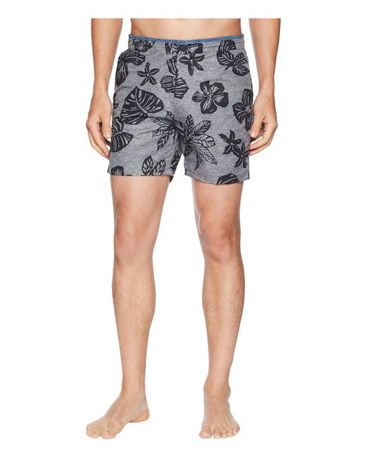 4983daeac7 Scotch & Soda - Blue Printed Melange Swim Shorts With Cut & Sewn Waistband  for Men ...