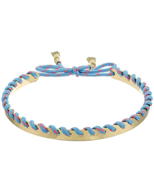 Rebecca Minkoff - Multicolor Climbing Rope Whipstitch Collar Necklace - Lyst