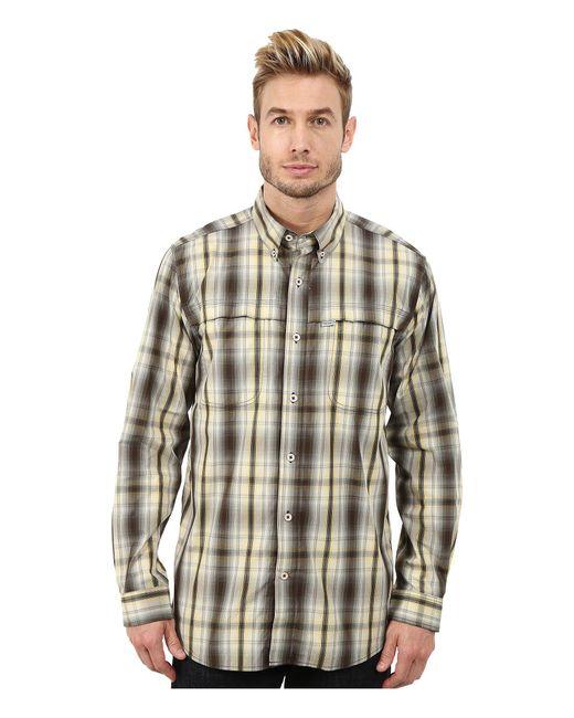 Carhartt - Brown Force Mandan Plaid Long Sleeve Shirt for Men - Lyst