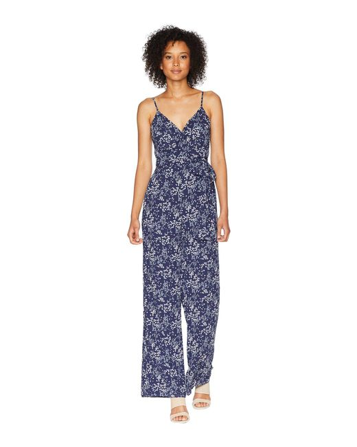 68a6c60a9690 Lyst - MICHAEL Michael Kors Scattered Blooms Jumpsuit in Blue - Save 51%