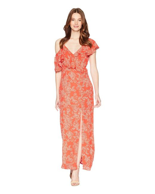 Amuse Society - Red Midnight Flower Dress - Lyst