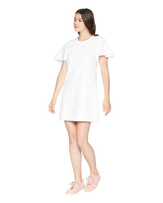 476c90480 Lyst - 7 For All Mankind Popover Dress W  Kick Sleeves in White ...
