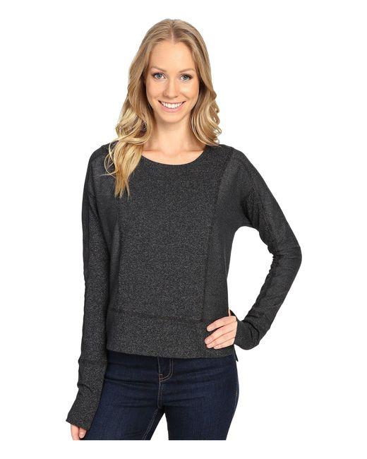Mountain Hardwear - Black Shadow Knit Crew Long Sleeve Shirt - Lyst