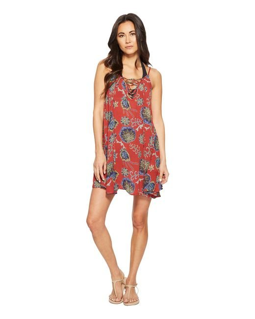 Roxy - Red Softly Love Dress Cover-up - Lyst