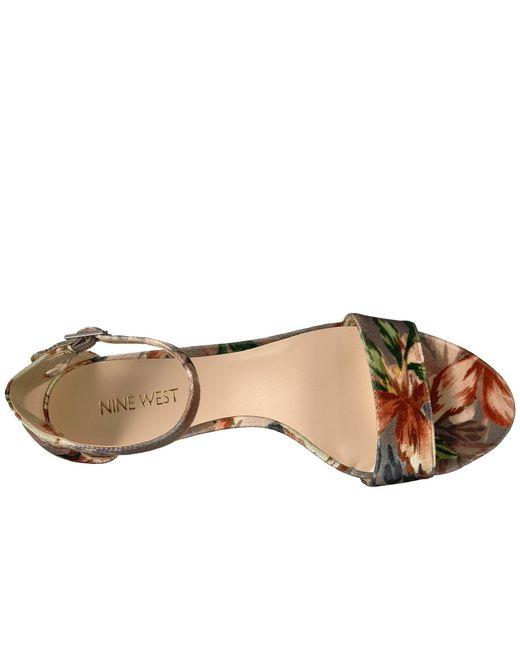 c8b436200d18 ... Nine West - Natural Leisa Heel Sandal - Lyst ...