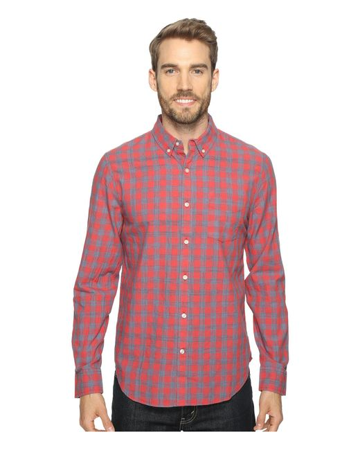 Lucky Brand | Red Washed Black Label Shirt for Men | Lyst
