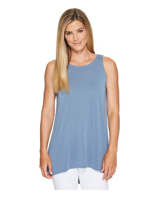 Vince Camuto - Blue Sleeveless High-low Hem Top - Lyst