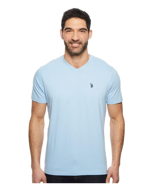 U.S. POLO ASSN. - Blue V-neck Short Sleeve T-shirt for Men - Lyst