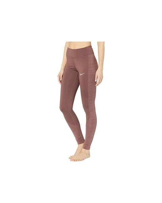 651071d95b5ecf ... Nike - Brown Racer Warm Tights (mahogany Mink) Casual Pants - Lyst ...