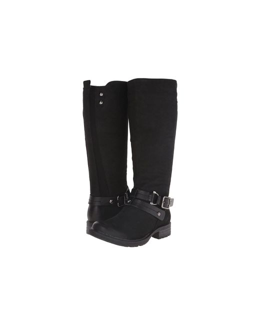 Earth - Black Sierra Leather Knee-High Boots - Lyst