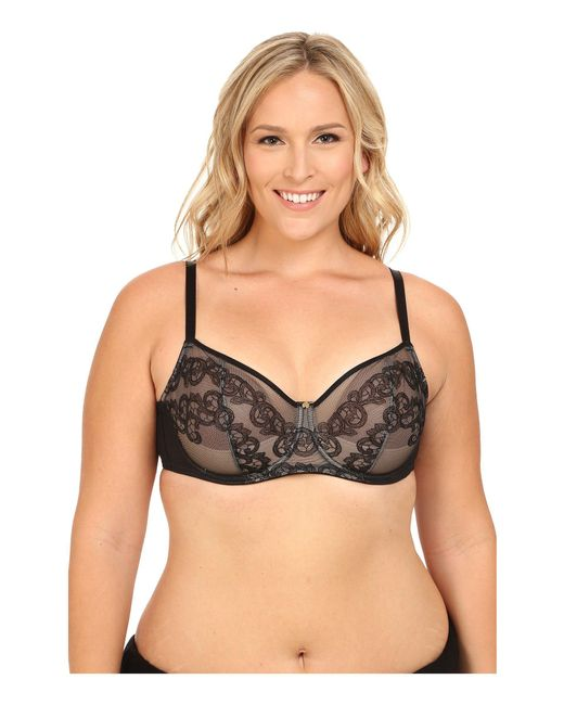 Natori - Black True Decadence Full Figure Cut & Sew Underwire Bra 734097 - Lyst