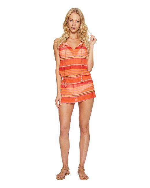 Polo Ralph Lauren | Orange Playa Stripe High Neck Dress Cover-up | Lyst