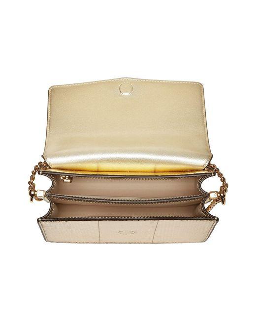 d0e3f0c2ea994 ... Tory Burch - Metallic Robinson Exotic Convertible Shoulder Bag - Lyst  ...