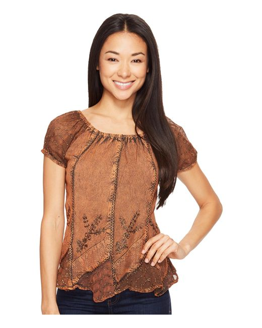 Scully | Brown Honey Creek Caitlyn Top | Lyst