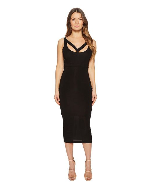 Versace Jeans - Black Cut Out Sleeveless Dress - Lyst