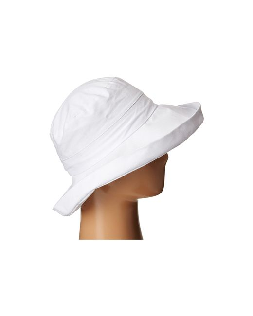 e71712ef0db ... San Diego Hat Company - White Cth4077 Linen Fabric W  Kettle Brim - Lyst  ...
