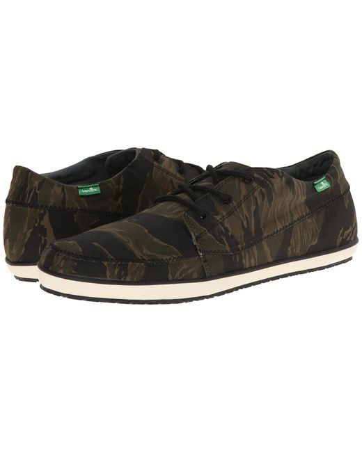Sanuk | Black Cassius Camo for Men | Lyst